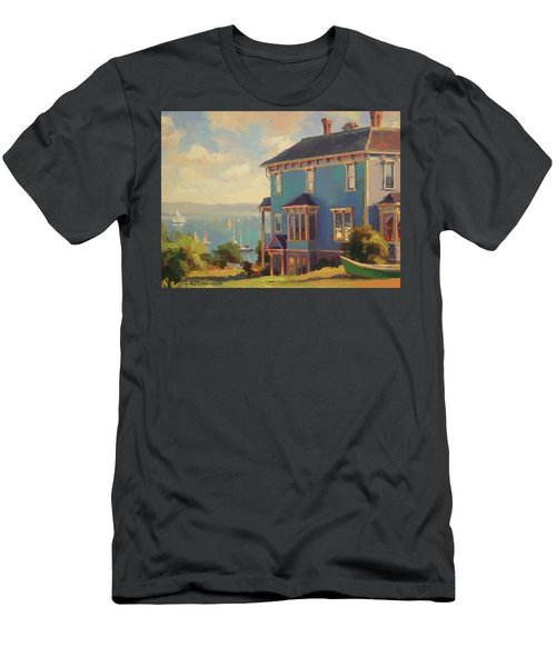 Men's T-Shirt (Athletic Fit) featuring the painting Captain's House by Steve Henderson