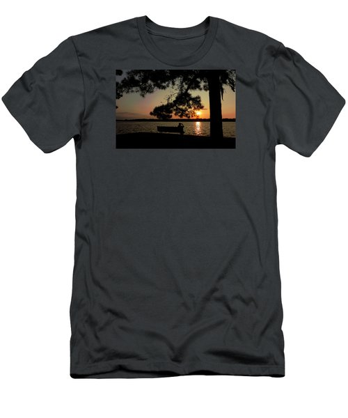 Men's T-Shirt (Slim Fit) featuring the photograph Capturing The Sunset by Teresa Schomig