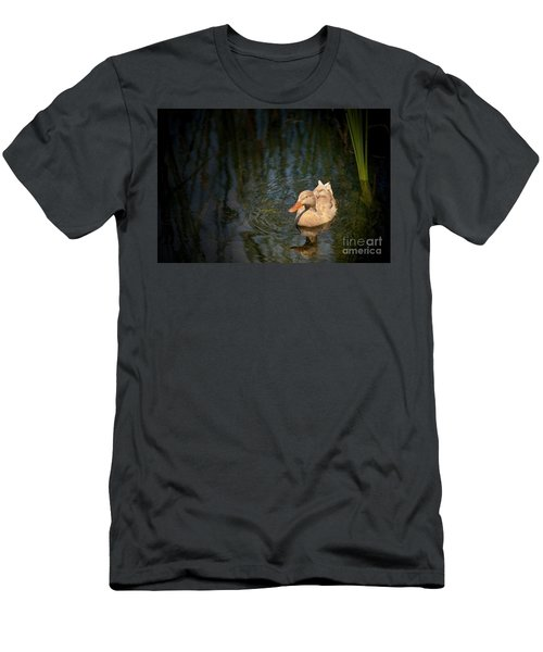 Caramel Mallard Men's T-Shirt (Slim Fit) by Pamela Blizzard