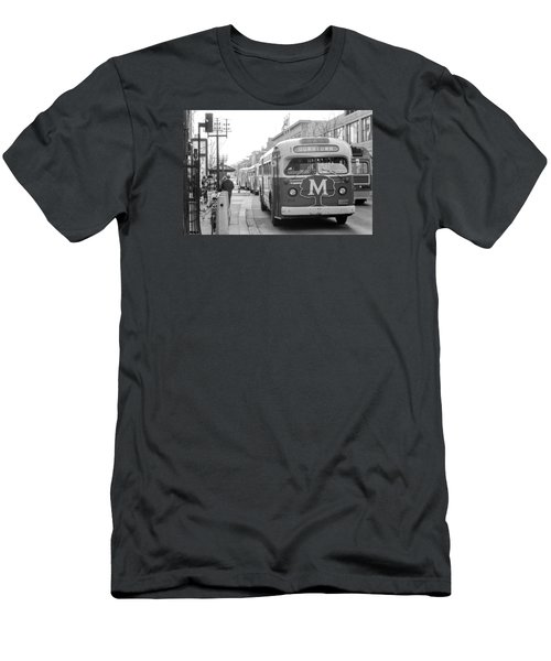 Caravan Of Buses On Nicollet Mall Men's T-Shirt (Athletic Fit)