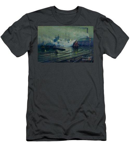 Cardiff Docks Men's T-Shirt (Athletic Fit)