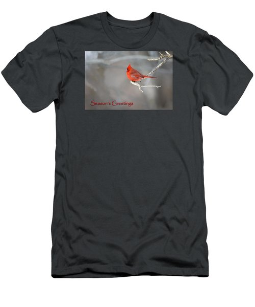 Men's T-Shirt (Slim Fit) featuring the photograph Cardinal Christmas Card by Gary Hall