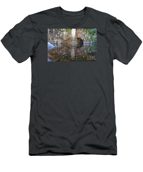Men's T-Shirt (Slim Fit) featuring the photograph Carlson Creek by Sandra Updyke