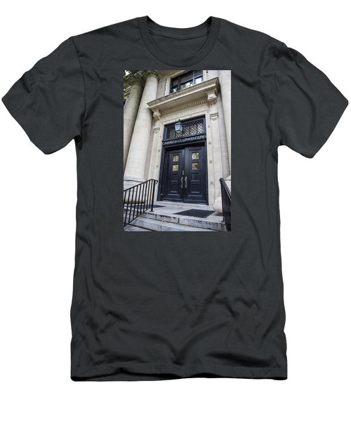 Carnegie Building Penn State  Men's T-Shirt (Slim Fit) by John McGraw