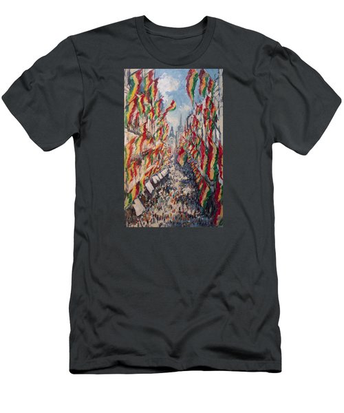 Carnival In The Grote Gracht In Maastricht Men's T-Shirt (Slim Fit) by Nop Briex