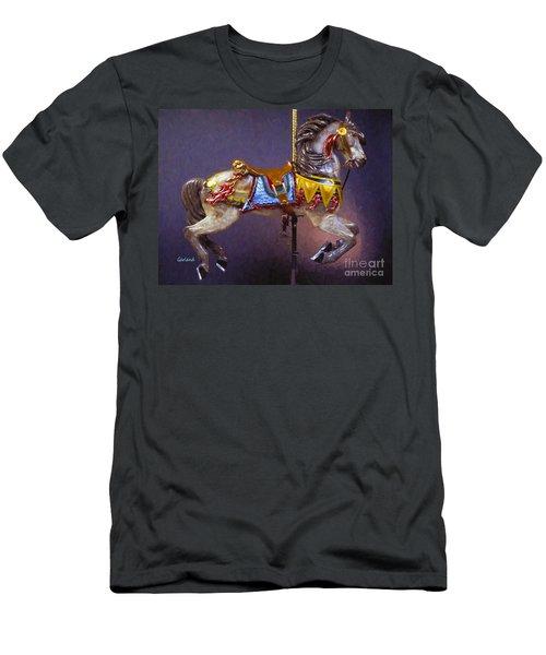 Carousel Dreams Iv Impasto Painting Men's T-Shirt (Athletic Fit)