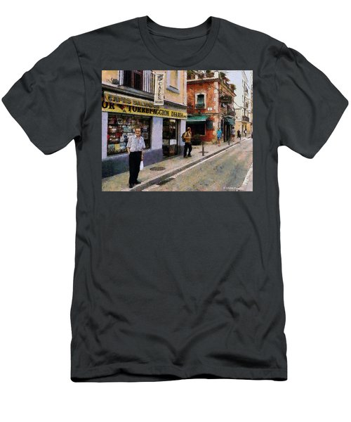 Men's T-Shirt (Slim Fit) featuring the painting Carrer Dosrius by Kai Saarto