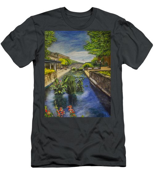 Carroll Creek Men's T-Shirt (Slim Fit) by Ron Richard Baviello