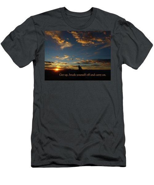 Carry On Sunrise Men's T-Shirt (Slim Fit) by DeeLon Merritt