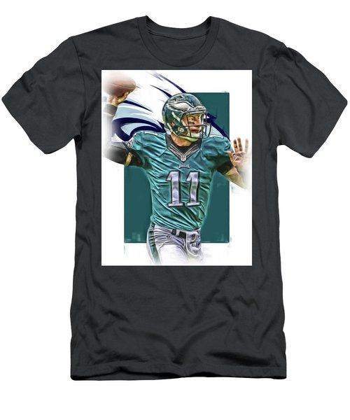 Carson Wentz Philadelphia Eagles Oil Art Men's T-Shirt (Athletic Fit)