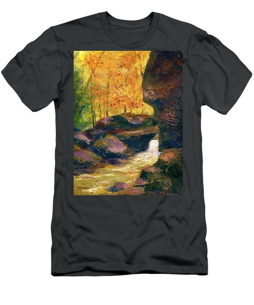 Men's T-Shirt (Slim Fit) featuring the painting Carter Caves Kentucky by Gail Kirtz