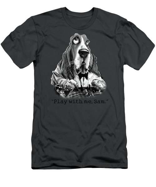 Casablanca Basset Hound Caricature Art Print Men's T-Shirt (Athletic Fit)