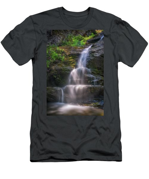 Men's T-Shirt (Athletic Fit) featuring the photograph Cascade Falls, Saco, Maine by Rick Berk