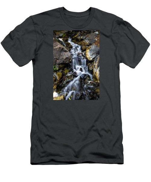 Men's T-Shirt (Slim Fit) featuring the photograph Cascade by Keith Hawley