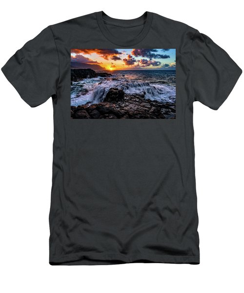 Cascading Water At Sunset Men's T-Shirt (Athletic Fit)