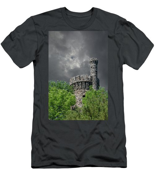 Men's T-Shirt (Athletic Fit) featuring the photograph Casco Castle by Guy Whiteley