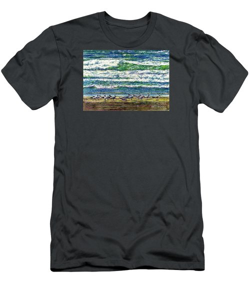 Caspian Terns By The Ocean Men's T-Shirt (Athletic Fit)