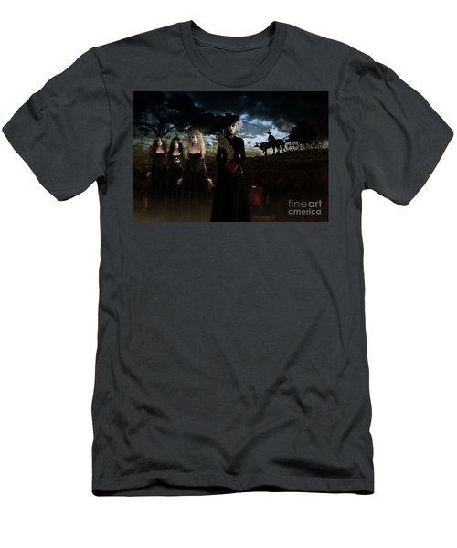Men's T-Shirt (Slim Fit) featuring the digital art Casquette Brides Arrival by Shanina Conway