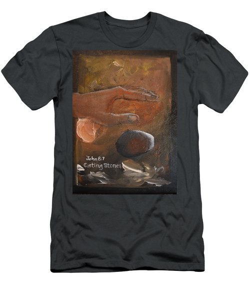 Casting Stones Men's T-Shirt (Athletic Fit)