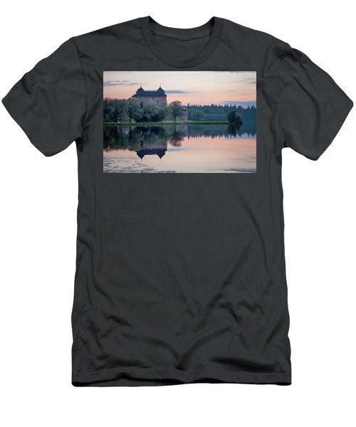Castle After The Sunset Men's T-Shirt (Slim Fit) by Teemu Tretjakov
