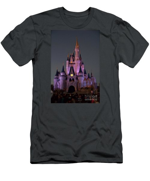 Men's T-Shirt (Slim Fit) featuring the photograph Castle At Twilight by Carol  Bradley