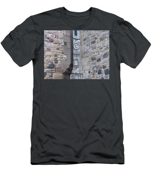Castle Clock Through Walls Men's T-Shirt (Athletic Fit)