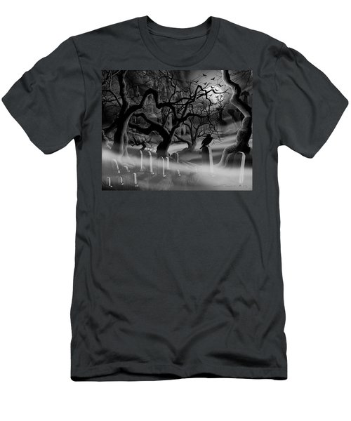 Castle Graveyard I Men's T-Shirt (Athletic Fit)