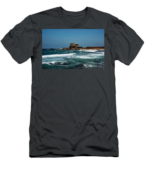 Men's T-Shirt (Athletic Fit) featuring the photograph Castle Of Herod The Great by Mae Wertz