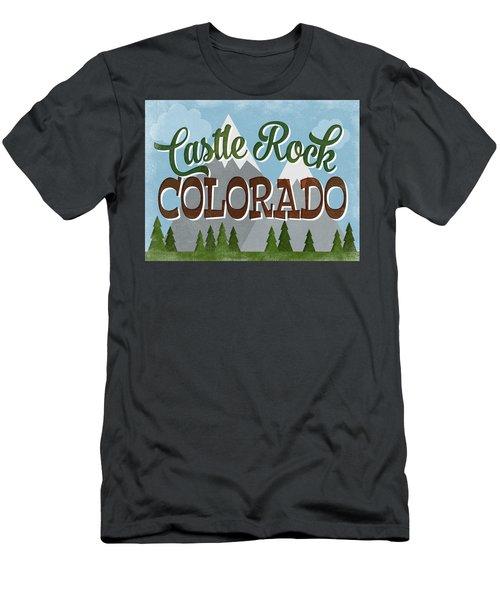 Castle Rock Colorado Snowy Mountains Men's T-Shirt (Athletic Fit)