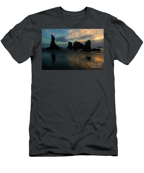 Men's T-Shirt (Slim Fit) featuring the photograph Castles In The Sand by Mike Dawson