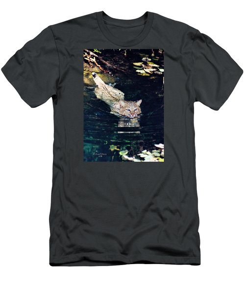 Cat In The Water Men's T-Shirt (Athletic Fit)