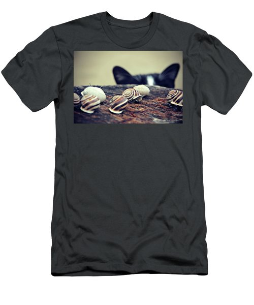 Cat Snails Men's T-Shirt (Athletic Fit)
