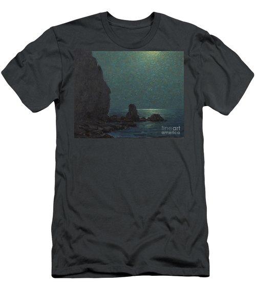 Catalina Island Coast Under A Moonlit  Men's T-Shirt (Athletic Fit)