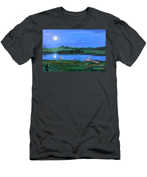 Catching Fireflies By Moonlight Men's T-Shirt (Athletic Fit)