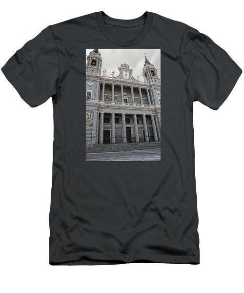 Men's T-Shirt (Slim Fit) featuring the photograph Catedral De La Almudena 2 by Angel Jesus De la Fuente