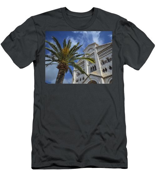 Men's T-Shirt (Slim Fit) featuring the photograph Cathedral At Monte Carlo by Allen Sheffield