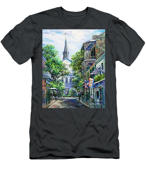 Cathedral At Orleans Men's T-Shirt (Athletic Fit)