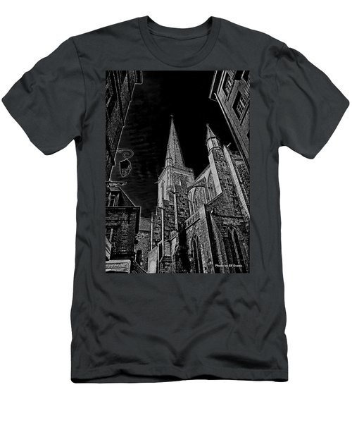 Men's T-Shirt (Athletic Fit) featuring the photograph Cathedrale St/. Vincent by Elf Evans