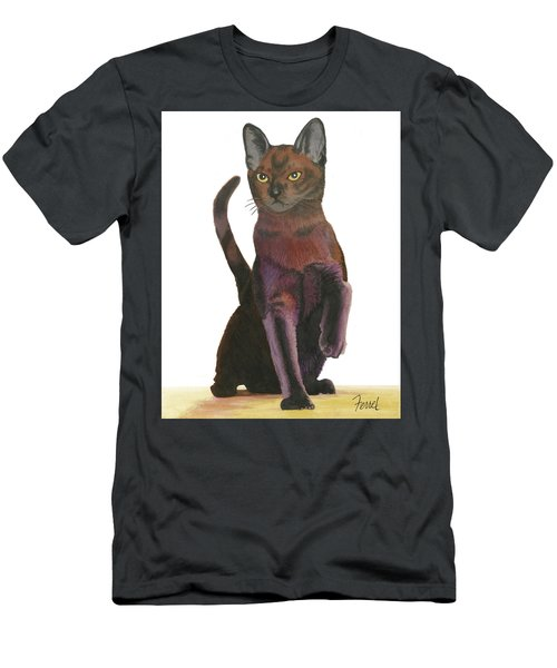 Men's T-Shirt (Slim Fit) featuring the painting Cats Meow by Ferrel Cordle