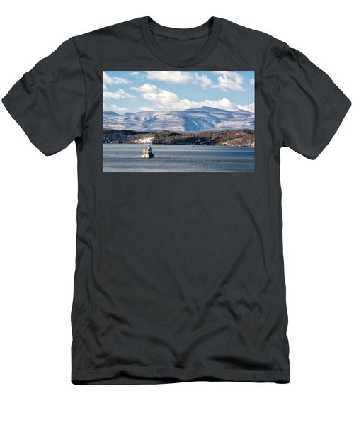 Catskill Mountains With Lighthouse Men's T-Shirt (Athletic Fit)