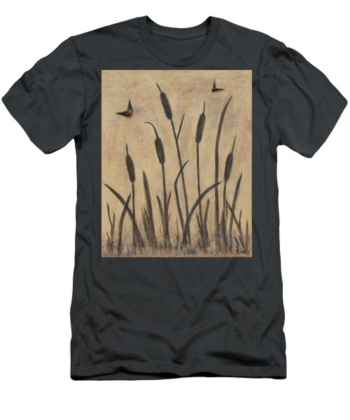 Cattails 2 Men's T-Shirt (Slim Fit) by Trish Toro