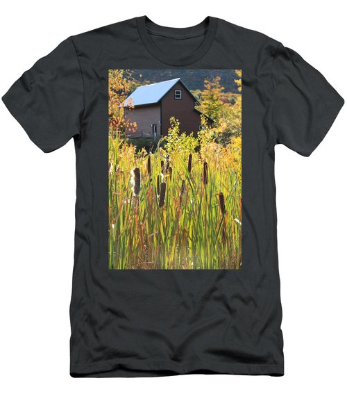 Cattails And Barn Men's T-Shirt (Athletic Fit)