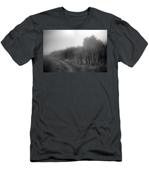 Men's T-Shirt (Athletic Fit) featuring the photograph Cattails In The Fog by Michael Colgate