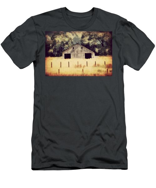 Hwy 3 Barn Men's T-Shirt (Slim Fit) by Julie Hamilton