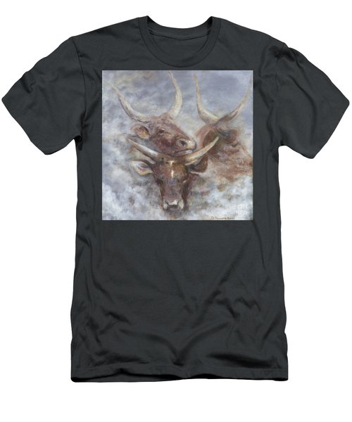 Cattle In The Mist Men's T-Shirt (Athletic Fit)