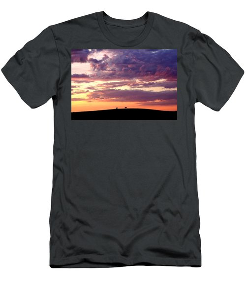 Cattle Ridge Sunset Men's T-Shirt (Athletic Fit)