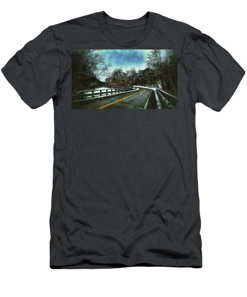 Caution Two Men's T-Shirt (Athletic Fit)