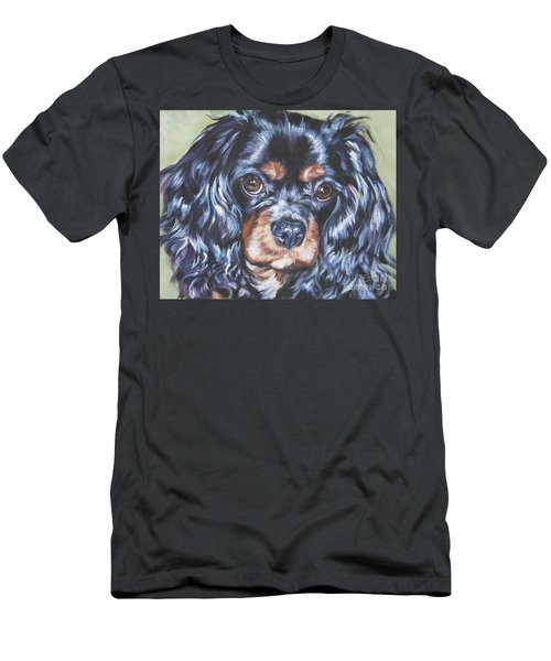 Cavalier King Charles Spaniel Black And Tan Men's T-Shirt (Slim Fit) by Lee Ann Shepard