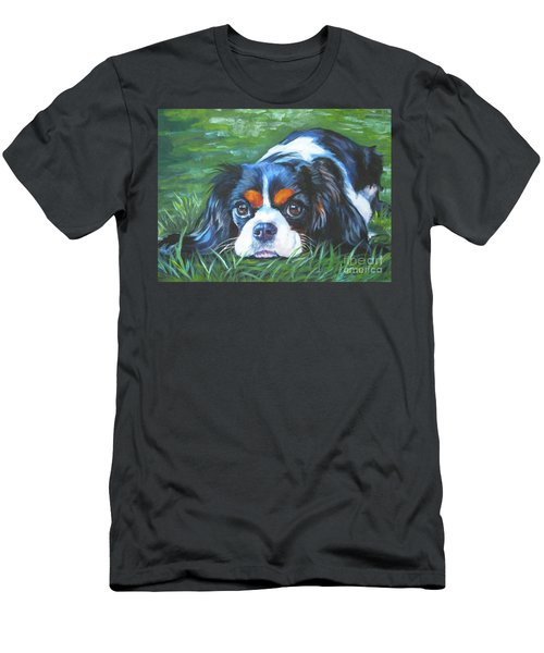 Cavalier King Charles Spaniel Tricolor Men's T-Shirt (Athletic Fit)
