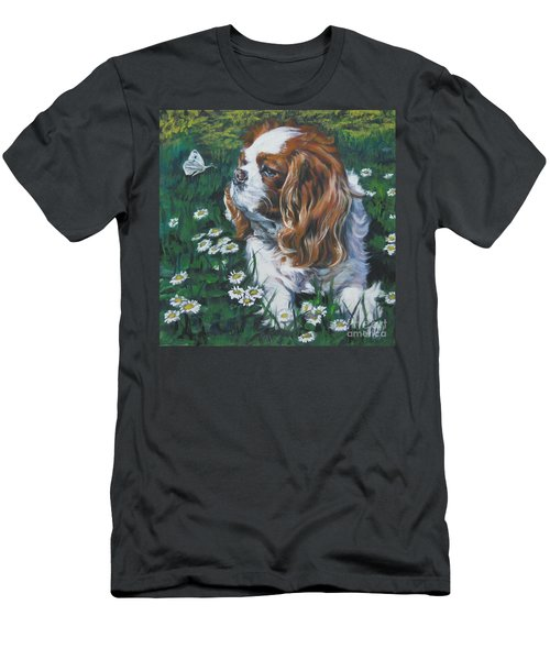 Cavalier King Charles Spaniel With Butterfly Men's T-Shirt (Athletic Fit)